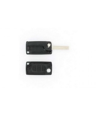 COQUE CLE ADAPTABLE PSA 3 BOUTONS LAME FRAISEE RETRACTABLE 8MM